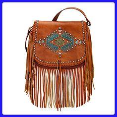 American West Pueblo Moon Collection Fringe Crossbody Flap Bag - Crossbody bags (*Amazon Partner-Link)