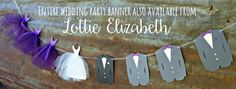 Bride Gown Banner Bridal Shower Decoration Wedding Dress