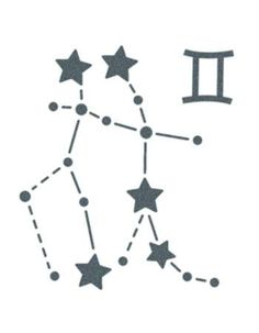 Gemini Sign Constellation Stars