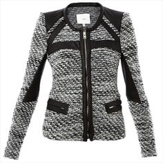 IRO - Izzy Leather Trim Tweed Jacket