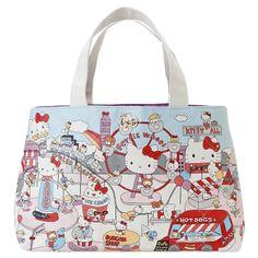 Hello Kitty mini tote bag (amusement park) Sanrio online shop - official mail order site