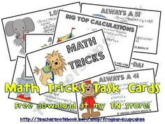 Math Tricks-2nd-6th start with a number, follow the mathematical directions, end with a predetermined number