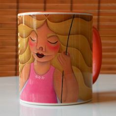 Start your day off right with a custom mug! Sip from one of our many Woman coffee mugs, travel mugs and tea cups offered on Zazzle. Breakfast Tea, Custom Mugs, Tea Cups, Coffee Mugs, Store, Disney Characters, Link, Gifts, Design