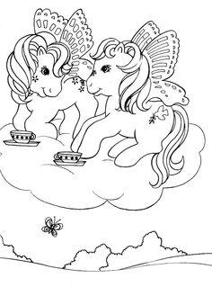 Disegni da colorare Mio piccolo Pony 9