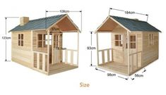 Outdoor Playhouse Wooden Cubby House with Windows and Verandah - Kids Wooden Playhouse, Build A Playhouse, Playhouse Outdoor, Shed Design Plans, Shed Plans, Cubby Houses, Play Houses, Playhouse Interior, Backyard For Kids