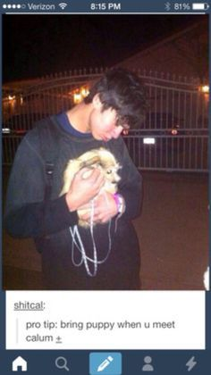 Whenever you have a bad day just think about this: Calum Hood loves you. Description from pinterest.com. I searched for this on bing.com/images