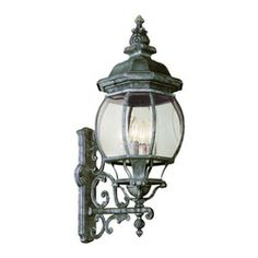 Trans Globe Lighting - Rochelle 45 Inch High Five-Light Wall Light In Iron - - Glass Type: Clear Glass - Beveled  - For outdoor use  - Material: Cast Aluminum  - Bulb not included  - Decorative wrought iron wall arm  - Several finishes to choose  - Clear beveled glass  - Over or Under wall bracket collection  - French outdoor lighting  - 1 Year limited  - A taste of Tuscany in outdoor landscape lighting perfect for French or English Gardens. Trans Globe Lighting - 40522SWI