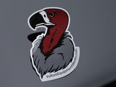 Vulture Head Sticker Made In The USA