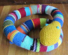 Scrappy the Snake - Crocheted Toy Rattlesnake. via Etsy.