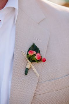 simple boutonniere // photo by http://pure7studios.com