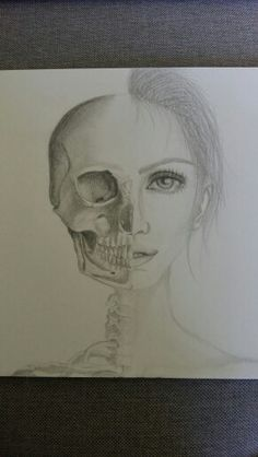 pretty girl half skull tattoo idea awesome tattoos pinterest half skull. Black Bedroom Furniture Sets. Home Design Ideas