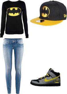 """Batman 3"" by loveloca ❤ liked on Polyvore"