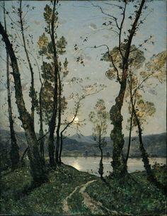 Henri-Joseph Harpignies Moonlight, 1889.