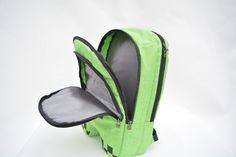2016 Hot sell minecraft backpack High Quality unisex 16 OZ canvas zip creeper backpacks mochilas school bag…