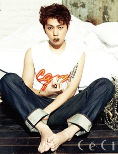 BEAST's Yong Jun Hyung - Ceci Magazine March Issus 2014 More: http://www.kpopstarz.com/articles/81518/20140227/beasts-yong-jun-hyung-ceci-magazine-march-issus-2014.htm