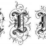 Gothic Letters 4 - Letters K L M