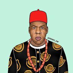 "Chief Shawn ""Ugonna"" Jay Z Carter #art #artlife #fashion #densah #shirt #leaves #style #brand #fashion #empire #leaves #heart #streetfashion #streetwear #virgilabloh #streetstyle #fashionblog #villageboys #ghana #africa #plantainboy #handpainted #ghettokids #uganda #nigeria #southafrica #kenya #jayz @hiphopart #hiphopart @ghanaposts #bellanaijaweddings GOD IS KING"