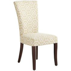 Our elegant Adelaide Dining Chair is classic without being stuffy. Its strong, geometric design bridges both traditional and contemporary styles. It has foam padding throughout and solid birch legs that are flared just enough to be ladylike. Bespoke Furniture, Furniture Sale, Home Decor Furniture, Dining Room Furniture, Discount Furniture, Dining Room Table, Dining Area, Kitchen Chairs, Dining Rooms