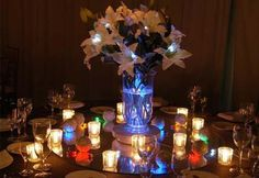 Floralytes Decorative Accent Lighting Colors Available) BEST SELLER! [Floralytes Little Wedding Lights] : Wholesale Wedding Supplies, Discount Wedding Favors, Party Favors, and Bulk Event Supplies Lighted Centerpieces, Wedding Centerpieces, Wedding Decorations, Table Decorations, Centerpiece Ideas, Wedding Tables, Christmas Decorations, Floral Wedding, Diy Wedding