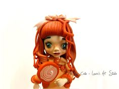 The doll with lollipop