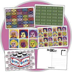 Little Big Art | POP SERIES Postcards (Pop Art, Andy Warhol, LEGO)