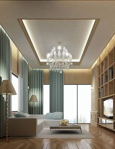 Luxury Living: interior design package includes Majlis designs, D. Kids Interior, Interior Design Dubai, Residential Interior Design, Interior Design Companies, Modern Interior Design, Contemporary Interior, Room Interior, Ceiling Design Living Room, False Ceiling Living Room