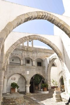 Patmos, Greece monastery (went there May Beautiful Islands, Beautiful Places, Travel Around The World, Around The Worlds, Places In Greece, Greece Islands, Mediterranean Homes, Travel Memories, Greece Travel