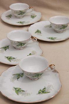 vintage china snack sets