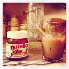Nutella Cake Cocktail (an original creation by Jonathan K. Taylor):  1oz warmed Nutella  1.5oz Cake Vodka (I recommend Three Olives)  1oz Bailey's (or Irish Cream  1/2oz Kahlua (I recommend French Vanilla)  1/2oz Frangelico (or Hazelnut Liqueur)  1/2oz milk or cream  Shake and serve over ice, bonus points if you use Nutella jar as tumbler and/or serving glass.