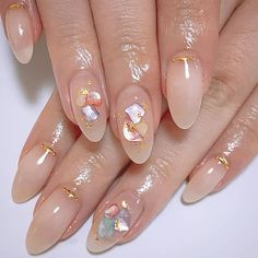 From New York, with inspiration from Japan, reaches CDMX Latin Witch, a place where you can bring your nails and creativity to another level. Soft Nails, Fancy Nails, Simple Nails, Cute Nails, Pretty Nails, Best Acrylic Nails, Gel Nail Art, Gel Nails, Nail Polish