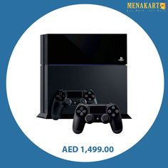 Sony PlayStation 4 Launch Edition 500 GB Black with 2 Dual Shock Controllers #playstation4 #ps4 #consoles #games #gaming #gamingconsole #online #shopping #menakart