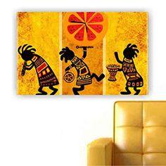 Move Canvas Tablo Saat 65 - 60x40 cm
