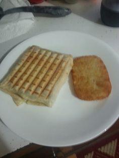 "Breakfast Pannini! ""My husband's favorite weekend breakfast!""  @allthecooks #recipe"