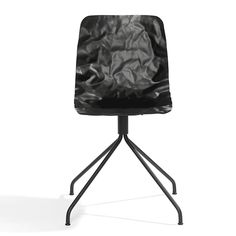 Dent Office is a swivel based chair with shell in layer-glued compression-moulded ash wood. Made out of ordinary (not 3D) veneer. Stained or natural lacquered. Green chrome, chrome III or lacquered steel.  Design: O4i; Jon Lindström & Henrik Kjellberg 2013. Blå Station.