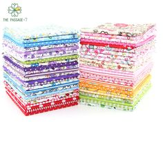 Tilda  Cotton Printing Random Color  Flower No Repeat Design Charm Packs Bundle Fabric Cloth Quilting Decoration 50 pcs 10*12cm