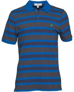 Lyle And Scott Club Mens Engineered Stripe Polo Navy £21.61 67% OFF!