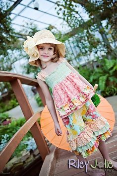 New PDF pattern from Create Kids Couture! Lily's romper with optional apron :)