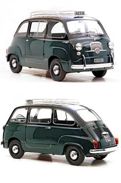 1960 FIAT 600 Multipla — love that dark green, what a fun, unique model!