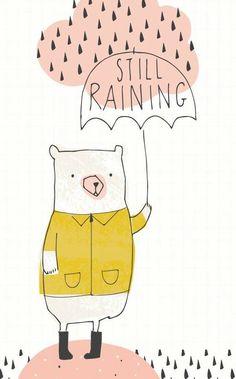 Bear in Rain