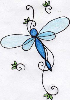 Dragonfly Tattoo #5 blue dragonfly tattoo by *mojo*, via Flickr