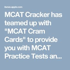 17 Best MCAT Cram Cards images in 2017 | App store