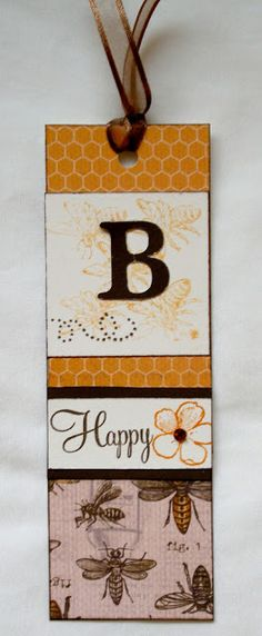 bookmark by Karen Care Inspiration Cards, Card Making Inspiration, Bookmark Ideas, Paper Bookmarks, Heart Projects, Bee Cards, Book Markers, Craft Cards, Pocket Letters