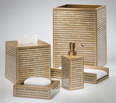 Numi Gold Labrazel Luxury Bath Accessories Bathroom