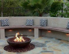 Sandy - Modern Fire Pit, Fire Pit Bench  Fire Pit  Jodie Cook Landscape Design  San Clemente, CA