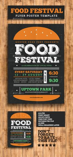 Food Festival Flyer Template PSD. Download here: http://graphicriver.net/item/food-festival-flyer/16192551?ref=ksioks