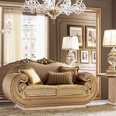 The Leonardo living room interprets the classical style for modern spaces without betraying the Italian spirit for furnishing. Italian Furniture, Classic Furniture, Living Room Sofa, Home Living Room, Leonardo Collection, Living Room Accessories, Classic Living Room, Luxury Sofa, 2 Seater Sofa