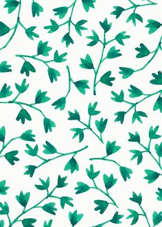illustrations and art Graphic Patterns, Textile Patterns, Leaf Patterns, Pattern Art, Pattern Design, Green Pattern, Backgrounds Wallpapers, Image Deco, Motif Floral