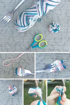 DIY Pom-Poms using j