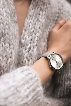 Michael Kors | Jaryn silver-tone leather-band watch