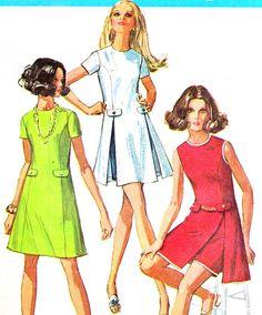 1960s Dress Pattern Simplicity 8281 Mod Princess by paneenjerez, $16.00